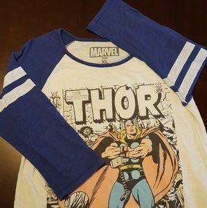 Thor Marvel Women's Baseball Tee